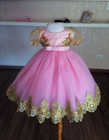 Vestido Para o Tema Realeza - Infantil