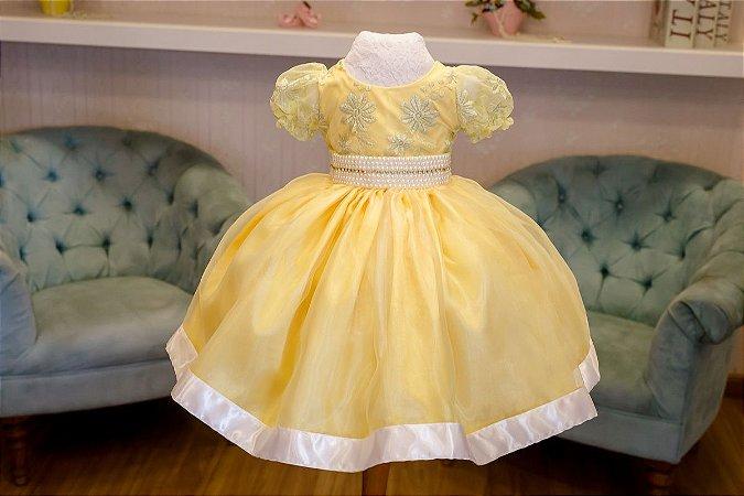Vestido para Daminha Amarelo - Infantil