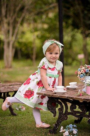 Vestido Floral Vermelho - Infantil