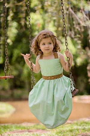 Vestido Xadrez Verde  - Infantil