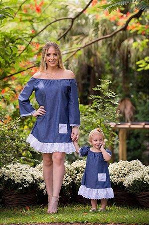 Vestido Ombro a Ombro - Mãe e Filha