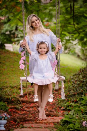 Vestido Ombro a Ombro Xadrez- Mãe e Filha