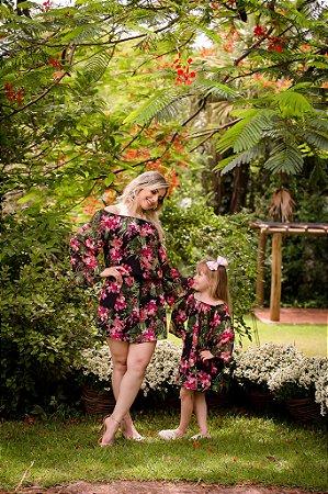 Tomara que Caia Floral - Mãe e Filha