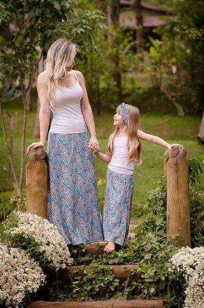 Compre mãe e ganhe filha -Saia Longa Mãe e Filha