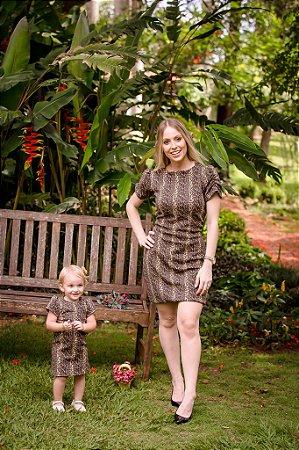 Vestido Marrom Mãe e Filha