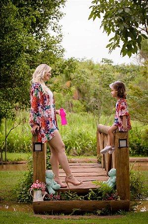 Kimono Floral - Mãe e Filha
