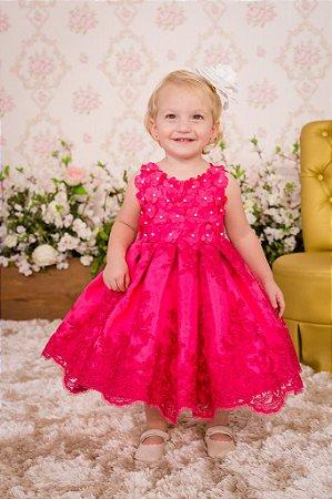 Vestido Realeza pink infantil