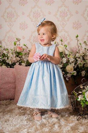 Vestido Azul Bebê para Festa- Infantil