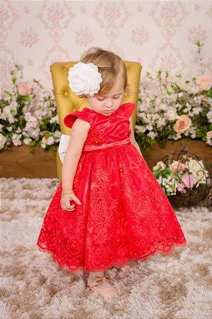 Vestido Vermelho para Daminha - Infantil