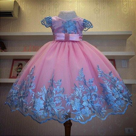 Vestido Rosa Luxo - Infantil
