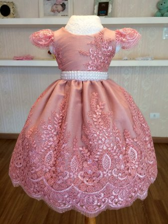 Vestido de luxo rosa - Infantil
