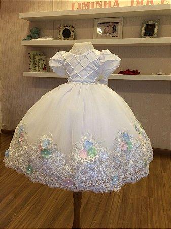 Vestido Branco para Daminha - Infantil