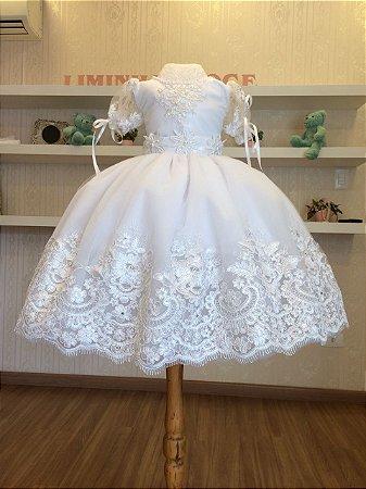 Vestido Branco para Batizados - Liminha Doce - Vestidos de Festa ... 0998d1f40eb