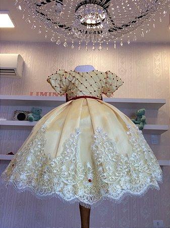 Vestido de Luxo para Tema Bela e a Fera - Infantil