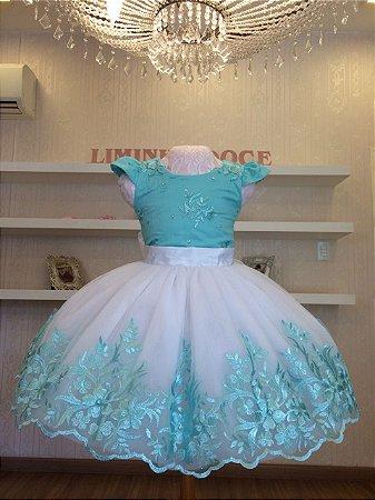Vestido Verde Tiffany para Daminha - Infantil