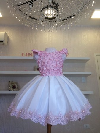 Vestido Rosa para Tema Boho Chic - Infantil