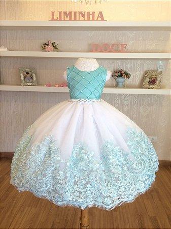Vestido Tiffany para Daminha - Infantil
