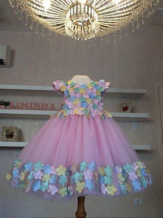 Vestido de Festa para o tema Unicornio - Infantil