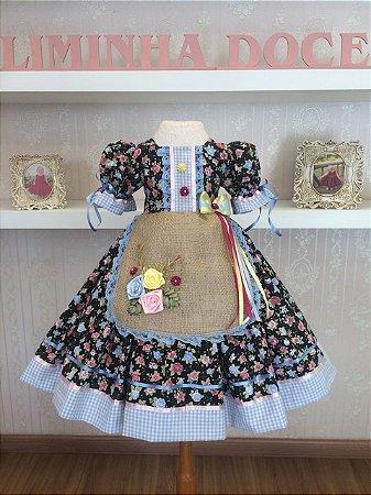 Vestido de Festa Junina - Infantil