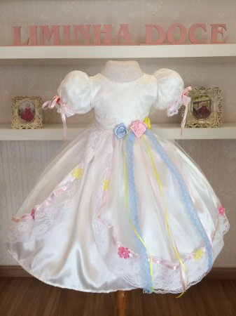Vestido de Noivinha para Festa Junina - Infantil