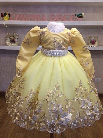 Vestido Amarelo com Durado - Infantil