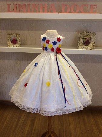 Vestido Caipira para Noivinha  - Infantil