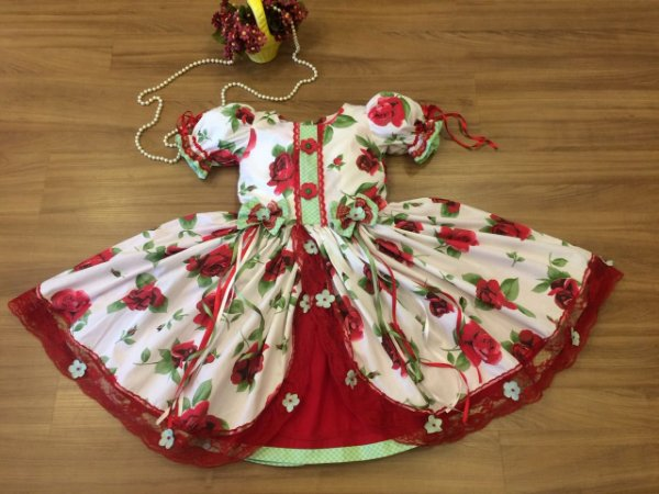 Vestido caipira para festa - Infantil