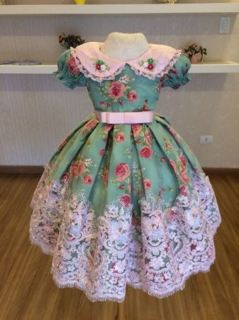 Vestido do Tema Cha da Tarde - Infantil