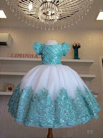 Vestido para Daminha Tiffany - Infantil