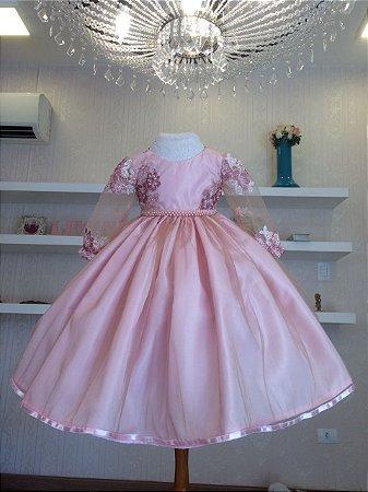 Vestido para Princesinha Liminha Doce - Infantil