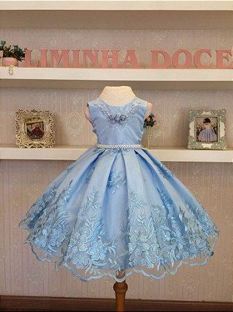 Vestido para Princesinha Alice - Infantil