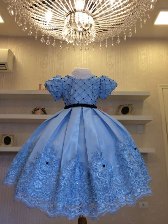 Vestido Azul Claro para Daminhas - Infantil