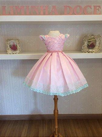 Vestido De Festa Tres Palavrinhas-Infantil