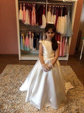 Vestido Dama de Honra Tecido Zebeline-Infantil