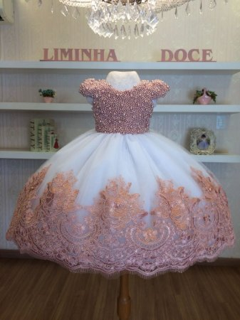 Vestido Rose Com Perolas Rose - Infantil