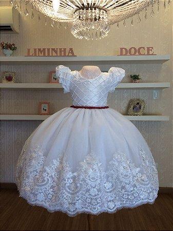 Vestido Branco Para Daminha-Infantil - Liminha Doce - Vestidos de ... 6adac3c3826