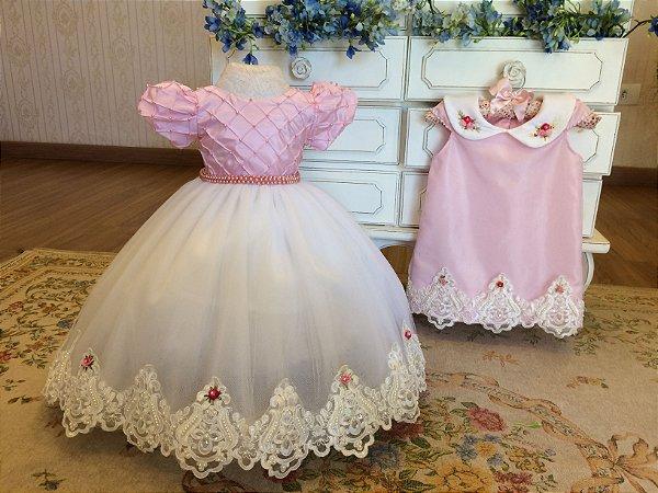 Vestido de Festa Para Antes e Depois do Parabens-Infantil