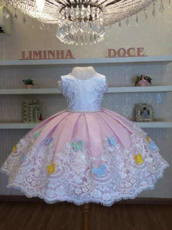 Vestido de Festa Borboletas- Infantil