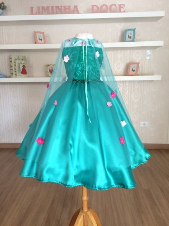 Vestido da Elsa Frozen  - Infantil