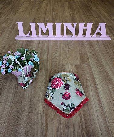 Kit Babador e Laço Para Cabelo Floral- Infantil