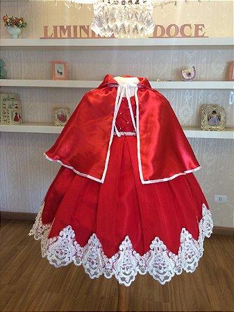 vestido chapeuzinho vermelho-Infantil