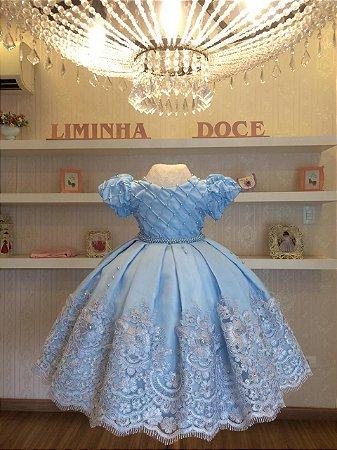 Vestido Para Daminha Azul -Daminha de honra