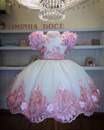 Vestido de Festa Jardim Encantado-VESTIDOS DE FESTA INFANTIL