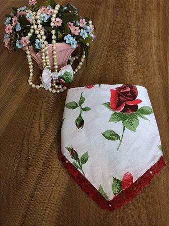 Babador Floral Vermelho-Acessórios