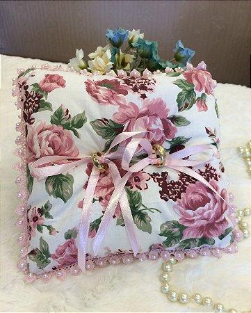 Porta Alianças Floral Rose-Acessórios