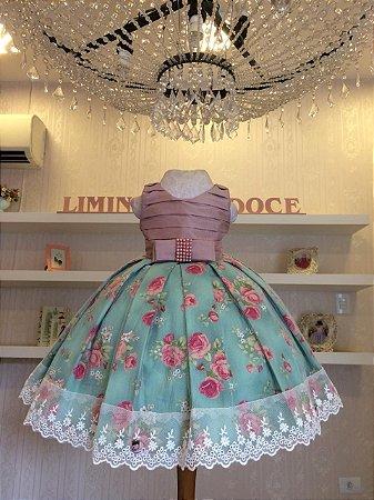Vestido Daminha Floral -Vestido Infantil