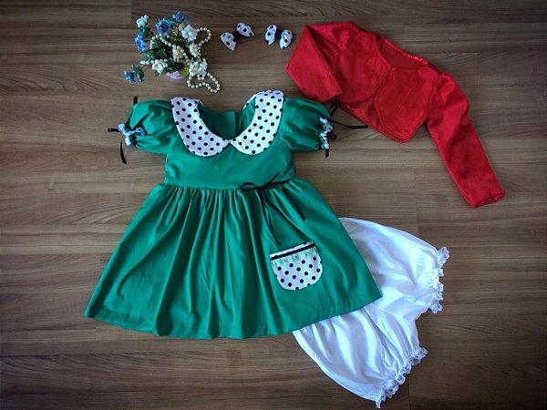 Roupa da Chiquinha -Vestido Infantil