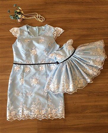 Vestido de Alta Costura Alice Pais das Maravilhas  - Mãe e Filha