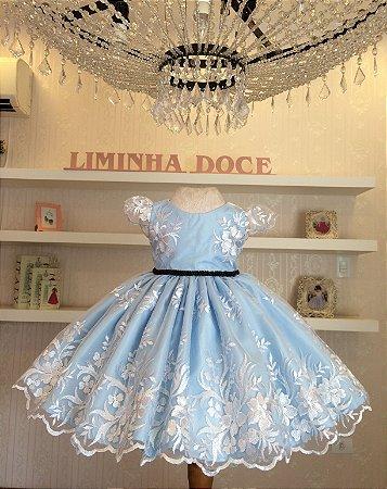 Vestido de Festa Alice No Pais Das Maravilhas- Vestido de temas Infantis