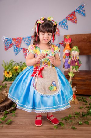 Vestido de Festa Junina Floral  - vestidos para festa junina